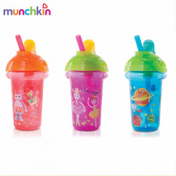 Munchkin Click Lock 9oz Decorated Flip Straw Cup - 2 Pack