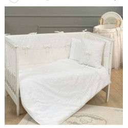 Funna Baby Bed Set 8pcs Premium - 70x140 - White