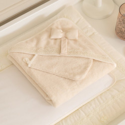 Funna Baby Towel Hooded Premium - Cream