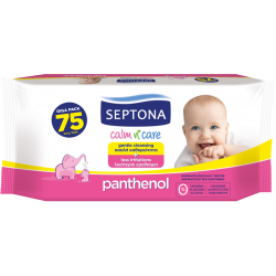Septona Baby Wipes with Panthenol, 75 Pieces