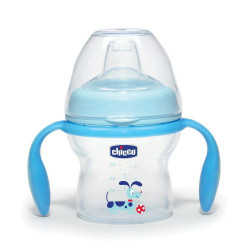Chicco Natural Feeling Transition Bottle, 150ml - Blue