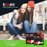 Kotex Feminine Pads Maxi Super Designer, 50 Pads