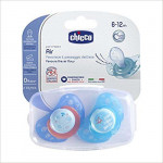 Chicco Physio Air Blue (6-12M) Silicone, 2 Pieces