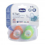 Chicco Soother Physio Air Lumi Silicone  (6-12 months) 2 Pcs