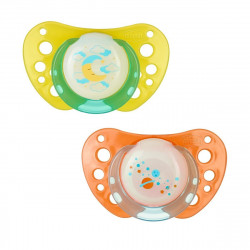 Chicco Soother Physio Air Lumi Silicone, 2 pcs, (0-6 months)
