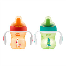 Chicco Training Cup +6 months, Neutral Assorted Colors, 1 cup