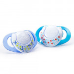 Chicco Physio Compact Blue (6-12M) Silicone 2 Pieces