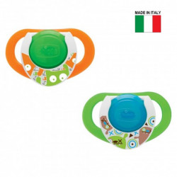 Chicco Physio Compact Night, Green-Orange, +12 months, 2 pieces