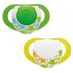 Chicco Physio Compact Silicone Soothers, (6-12 months), 2 pcs.