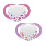 Chicco Physio Compact Pink (6-12M) Silicone 2Pcs
