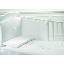 Baby Expert Bed Set 5pcs Teddy ** White