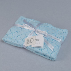 Funna Knitted Blanket Punto - Blue
