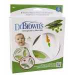 Dr. Brown's Designed To Nourish 2 Pack Divided Unisex Plates