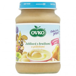 OVKO Fruit Mix Apple, Pear and Biscuits 190g