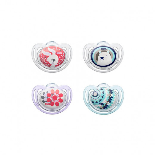 NUK Soother Stage 2 Free Style (6-18 months), Assortment