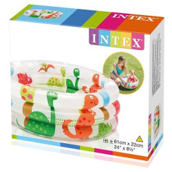 Intex - 2 Feet Dinosaur 3 Ring Baby Pool , Amusement Park And Residential
