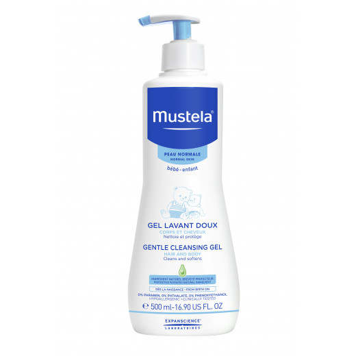 Mustela Soap-free Cleansing Gel Hair and Body Wash 500 ml