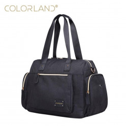 Colorland Large Capacity Maternity Mummy Bags, Black