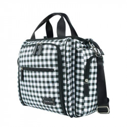 Colorland Gabrielle Tote Baby Changing Bag, Black & White Chequered