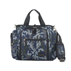 Colorland Gabrielle Tote Baby Changing Bag, Camo Grey