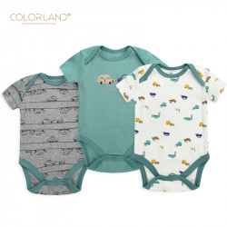 Colorland - (1) Baby Bodysuit 3 Pieces In One Pack