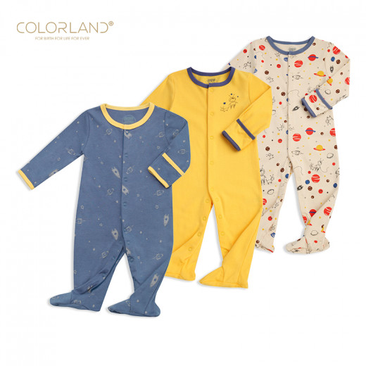 Colorland - Baby Romper / The Universe Secret 3 Pieces In One Pack