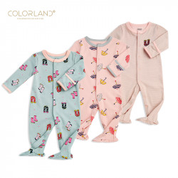 Colorland - Baby Romper / The Umbrella Party 3 Pieces In One Pack