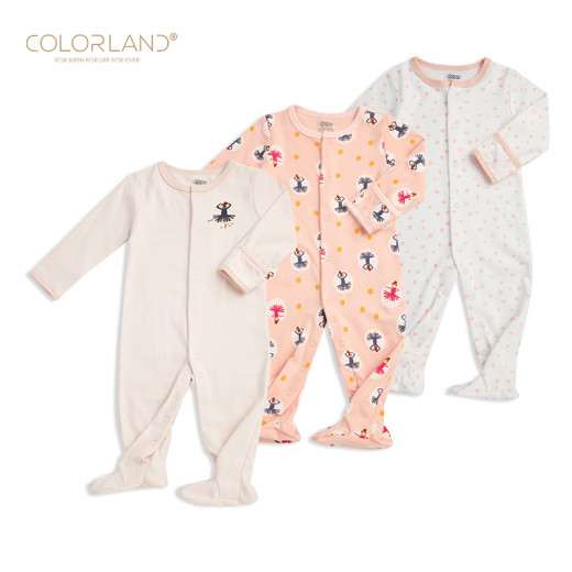 Colorland - Baby Romper / Pink Princess 3 Pieces In One Pack