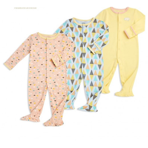 Colorland - (2) Baby Romper 3 Pieces In One Pack