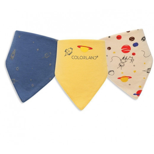 Colorland - (2) Baby Bibs 3 Pieces In One Pack