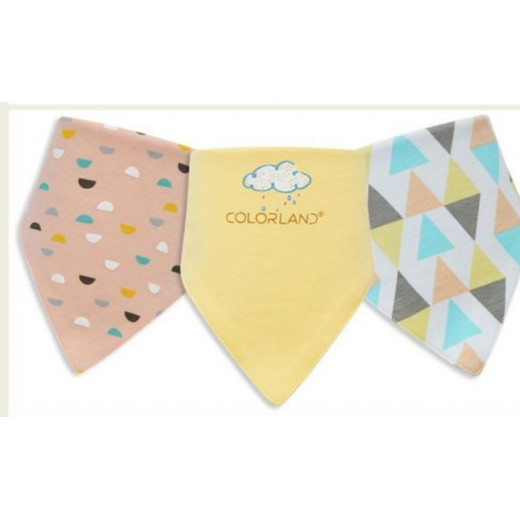 Colorland - (3) Baby Bibs 3 Pieces In One Pack