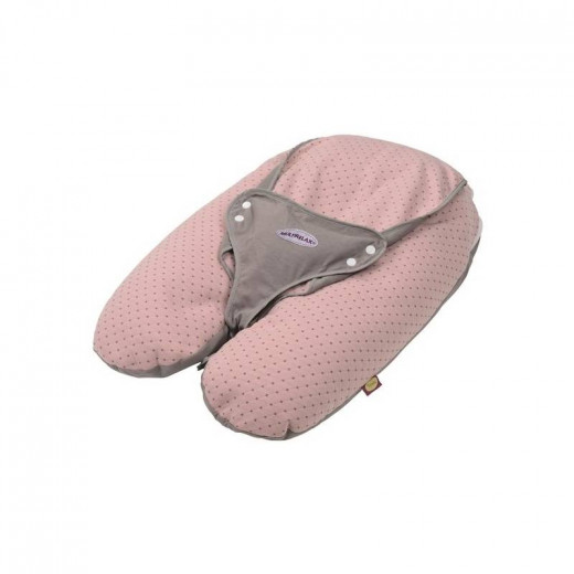 Candide Multirelax 3-in-1 Maternity Pillow and Infant Seat, Jersey, Pink