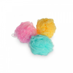 Calypso Bath Flower Body Sponge with Hanging Loop, Assorted Colors