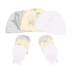 Colorland = (2) Baby Hat & Gloves 3 Pieces In One Pack