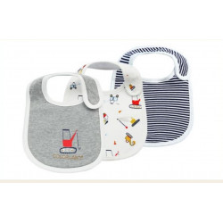Colorland - (10) Baby Bibs 3 Pieces In One Pack