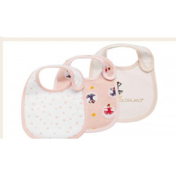 Colorland - (12) Baby Bibs 3 Pieces In One Pack
