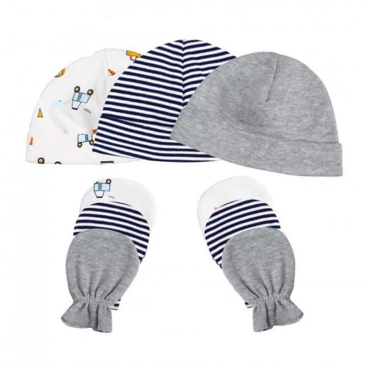 Colorland = (7) Baby Hat & Gloves 3 Pieces In One Pack