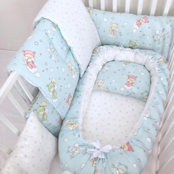 Anett Newborn Baby Bedding Set, Baby, Sky Blue to Pale Green