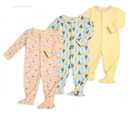 Colorland - (2) Baby Bodysuit 3 Pieces In One Pack