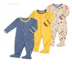 Colorland - (3) Baby Bodysuit 3 Pieces In One Pack