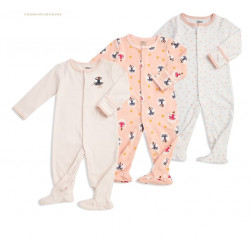 Colorland - (4) Baby Bodysuit 3 Pieces In One Pack