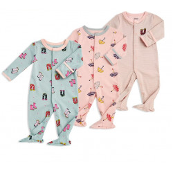 Colorland - (5) Baby Bodysuit 3 Pieces In One Pack
