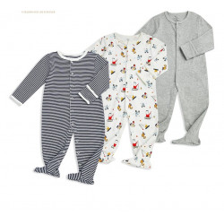 Colorland - (6) Baby Bodysuit 3 Pieces In One Pack