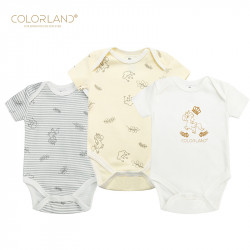 Colorland - (7) Baby Bodysuit 3 Pieces In One Pack