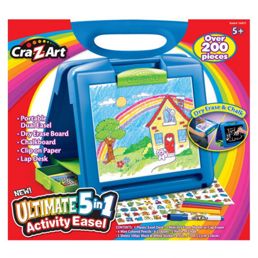 Cra-Z-Art Neon 5 In 1 Ultimate Easel Blue