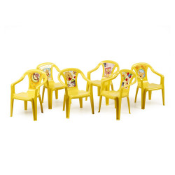 Disney Children's Plastic Chair X1, Yellow, Assorted Pictures