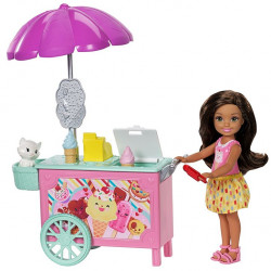 Barbie Club Chelsea, Doll and Ice Cream Cart