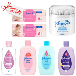 Johnson's Baby Skincare Essentials Offer 7 per pack (Made in Britain).