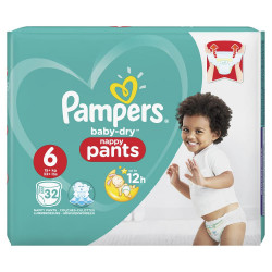 Pampers Baby Dry Pants Size 6, 32 per pack 15+ Kg