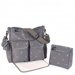 Pasito Pasito Walking Mum Gaby Grey Winter Changing Bag